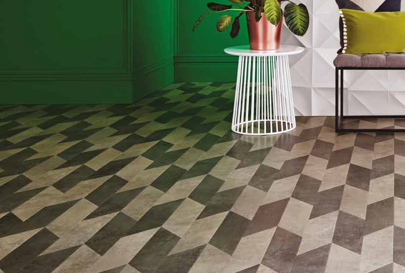 Laying patterns designers choice Arrow commercial and residential luxury vinyl tiles flooring design inspiration web