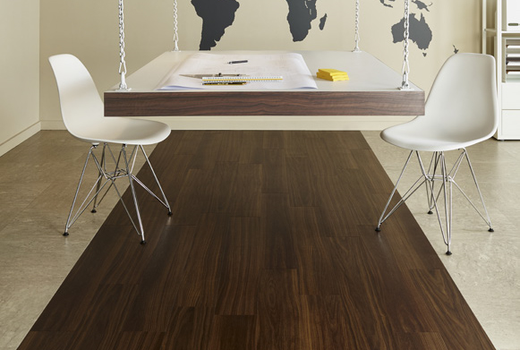 Amtico Access  Exotic Walnut and  Riverstone Tundra commercial luxury vinyl tiles wood flooring design web
