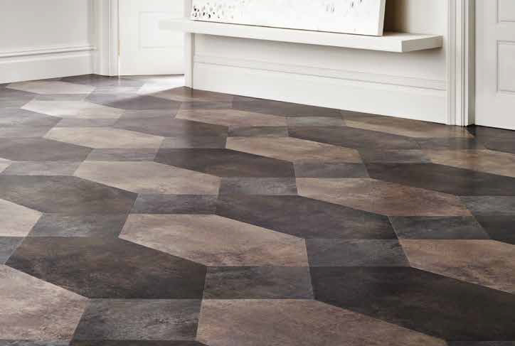 Laying patterns designers choice Polygon Key commercial and residential luxury vinyl tiles flooring design inspiration web
