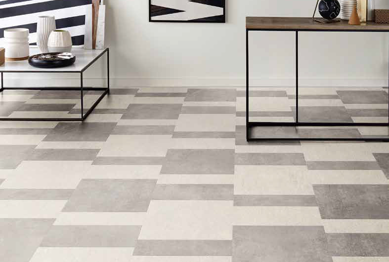Laying patterns designers choice Staggered Block commercial and residential luxury vinyl tiles flooring design inspiration 2 web