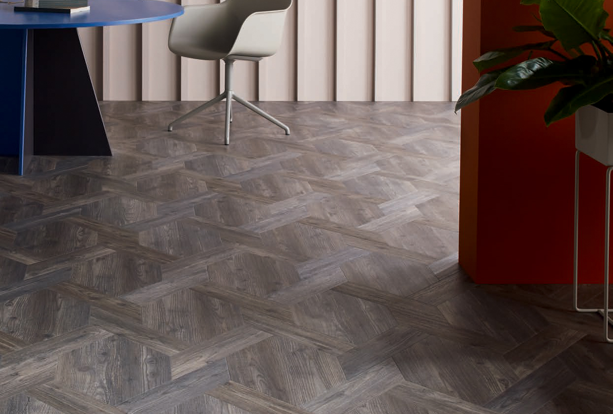 Laying patterns designers choice Castel Weave commercial and residential luxury vinyl tiles flooring design inspiration web