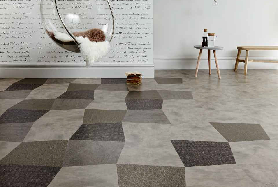 Laying patterns designers choice Oblique Square commercial and residential luxury vinyl tiles flooring design inspiration 2 web
