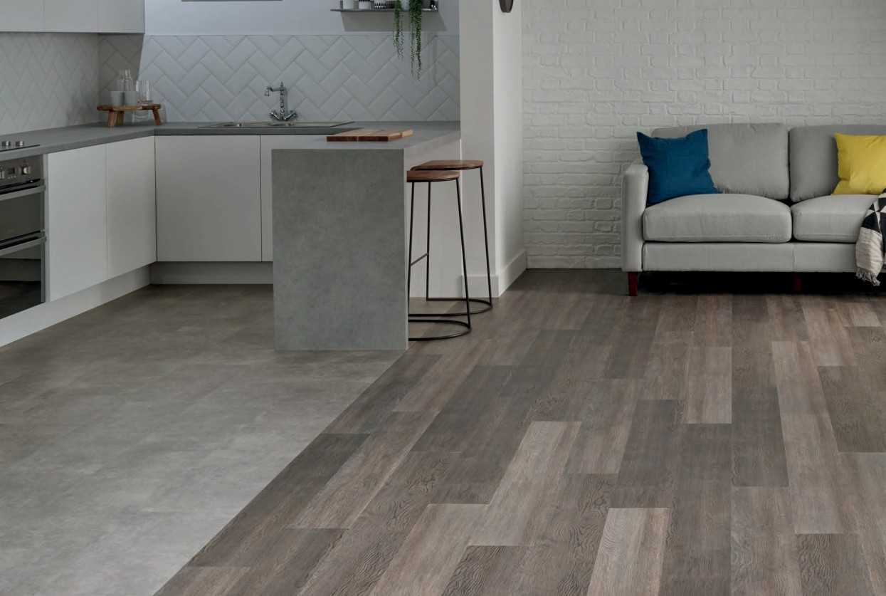 Amtico First Gallery Concrete Bonded Stone Dutch Oak Stripwood commercial and residential lvt wood flooring web v2