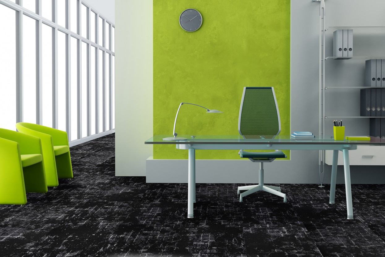Grid Midnight carpet tiles web