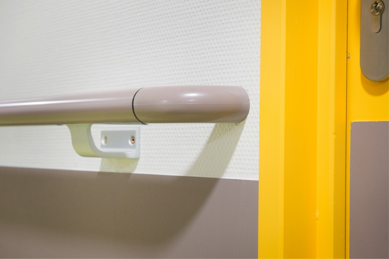 Escort PVC Sheated handrail installation